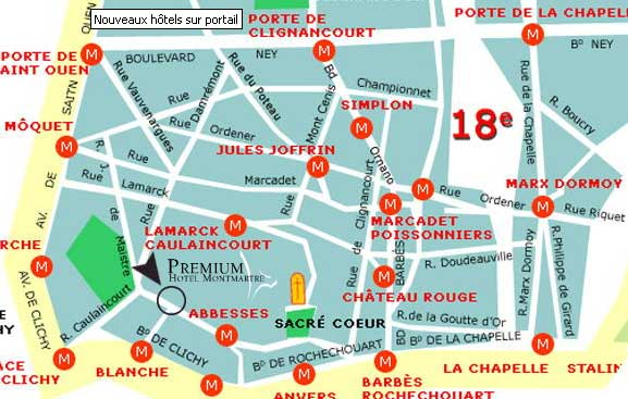 Map and access how to reach us hotel des arts paris near montmartre and opera - Porte d orleans paris plan ...
